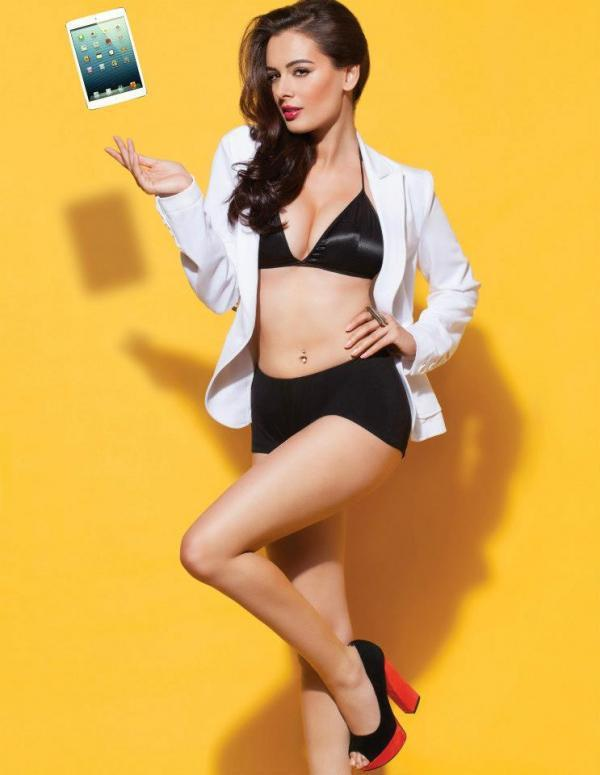 Sexy Evelyn Sharma Hot Spicy Look Photo Shoot For Stuff India Feb 2013
