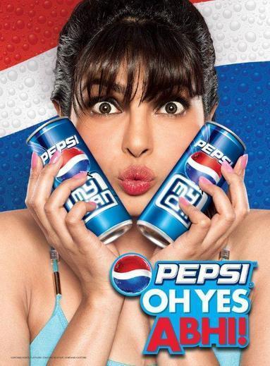 Priyanka Nice Photo Shoot With Pepsi Can For Pepsi Oh Yes ABHI! Ad