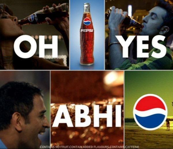 Ranbir,Priyanka And M. S. Dhoni Photo Shoot For Pepsi Oh Yes ABHI! Ad