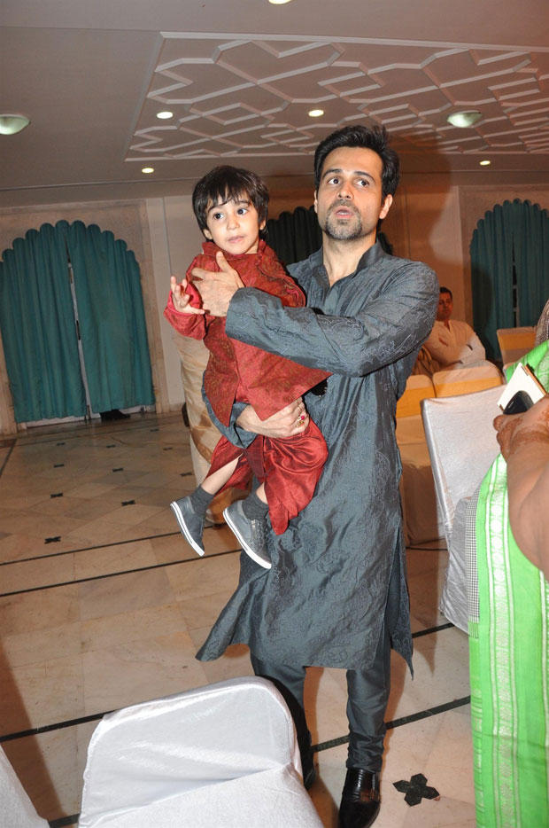 Emraan With Son Ayaan Attend Udita Goswami And Mohit Suri Wedding Ceremony