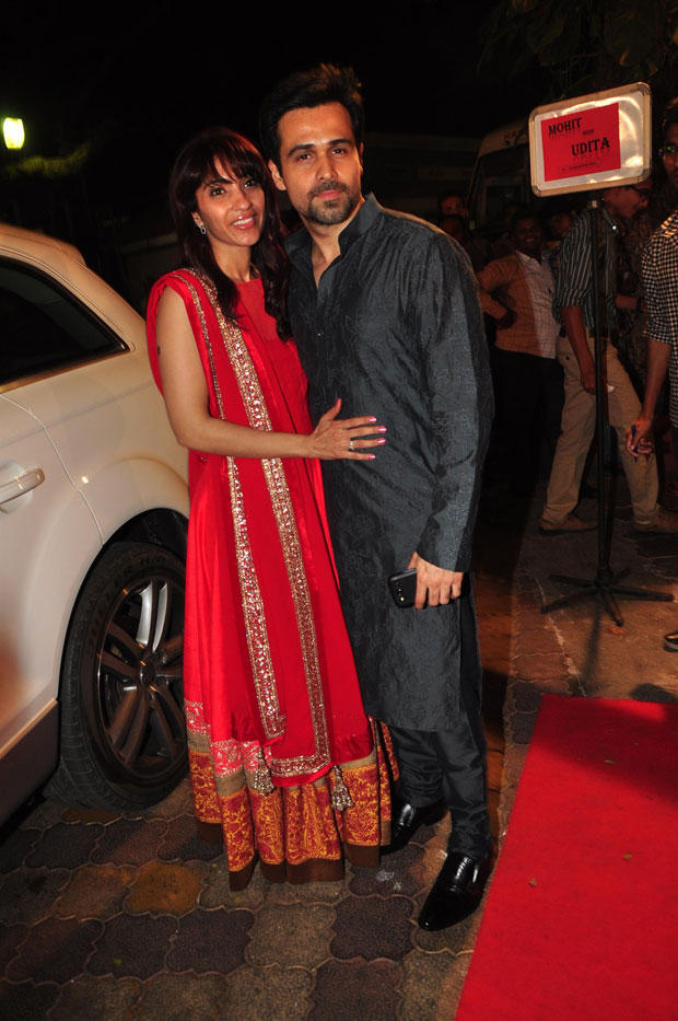 Emraan With Wife Parveen Clicked At Udita Goswami And Mohit Suri Wedding Ceremony