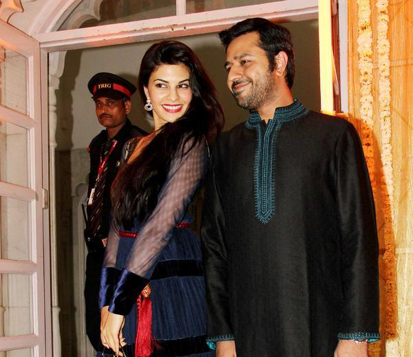 Jacqueline With A Friend Posed At Udita Goswami And Mohit Suri Wedding Ceremony