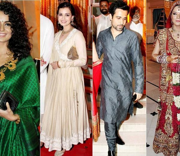 Kangana,Udita,Dia And Emraan At Udita Goswami And Mohit Suri Wedding Ceremony