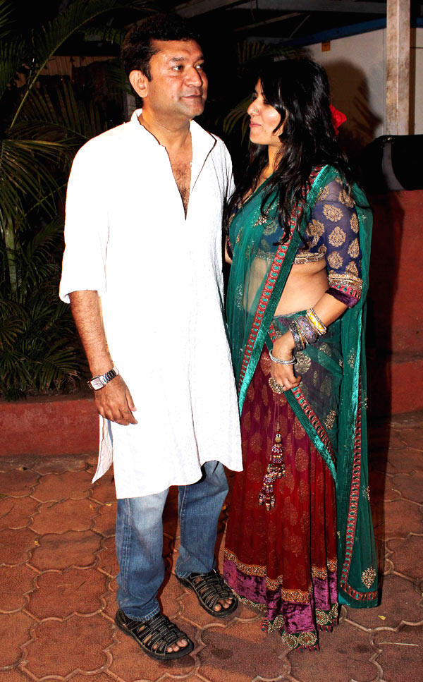 Ken Ghosh With A Friend Spotted At Udita And Mohit Wedding Ceremony