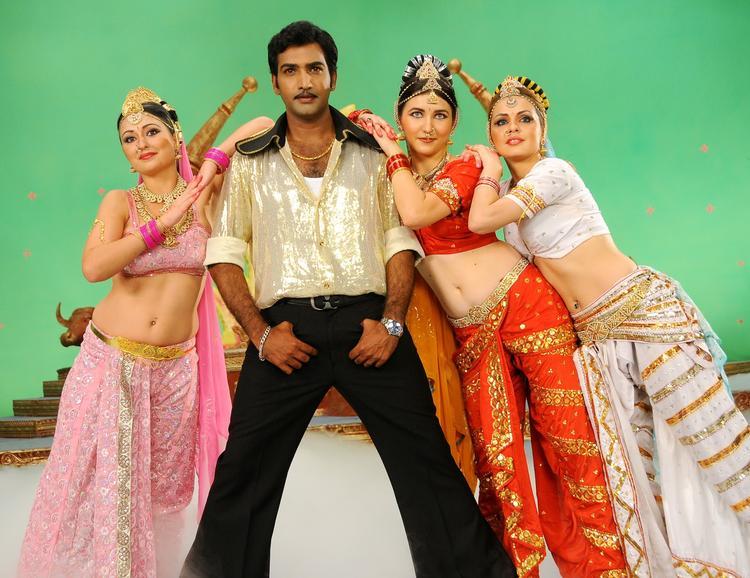 Neeraja And Taraka Ratna Dancing Pose From Nenu Chala Worst Movie