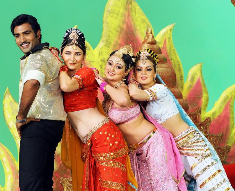 Taraka Ratna And Neeraja A Still From Nenu Chala Worst Movie