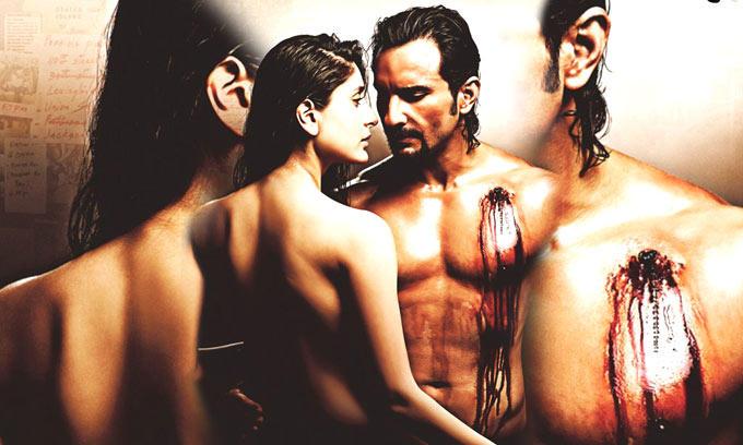 Saif Ali And Kareena Hot Bare Body Romance Photo From Movie Kurbaan