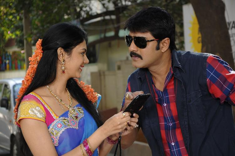 Srikanth And Kamna Cool Still From Pushyami Film Makers Movie