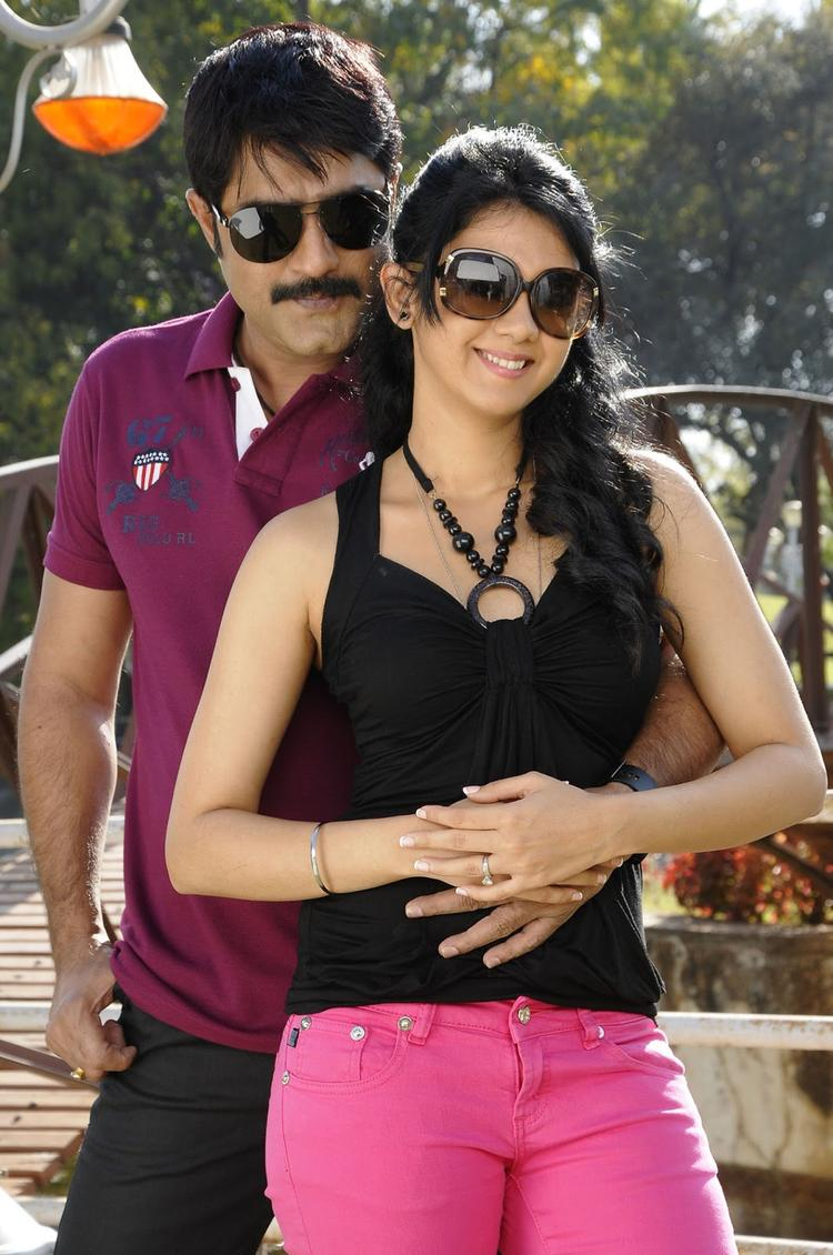 Srikanth And Kamna A Still From Pushyami Film Makers Movie