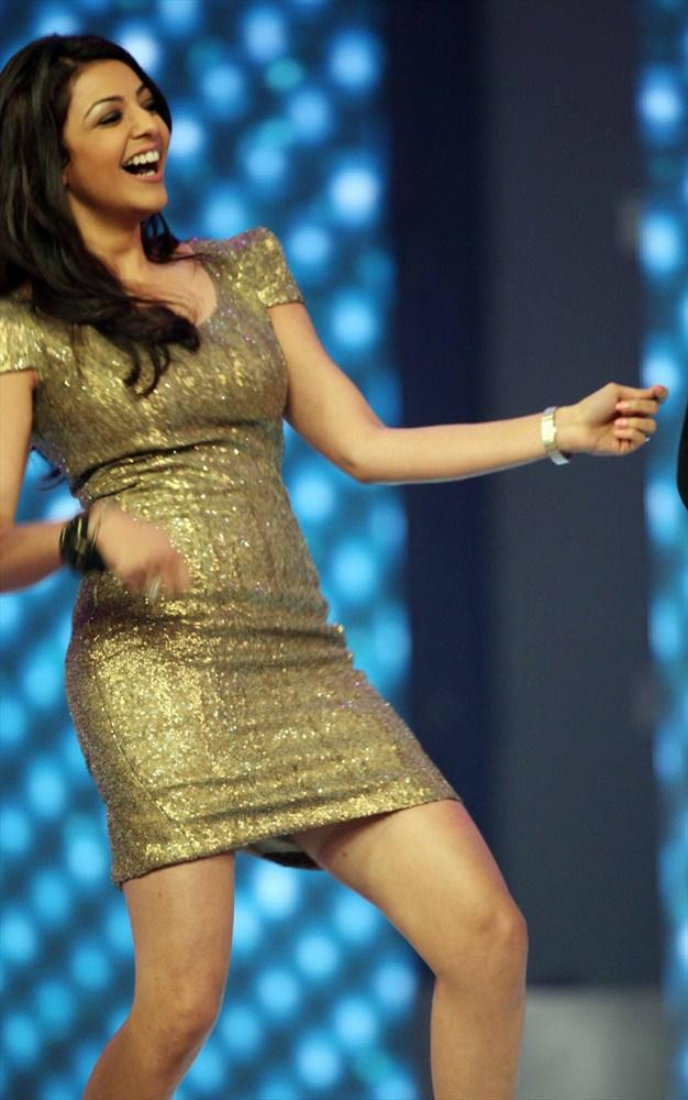Kajal Strike A Dance Step At CCL 3 Opening Ceremony