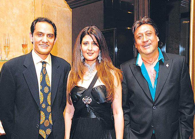 Jackie Shroff And Mohammad Azharuddin With Wife Sangeeta Bijlani Photo Still