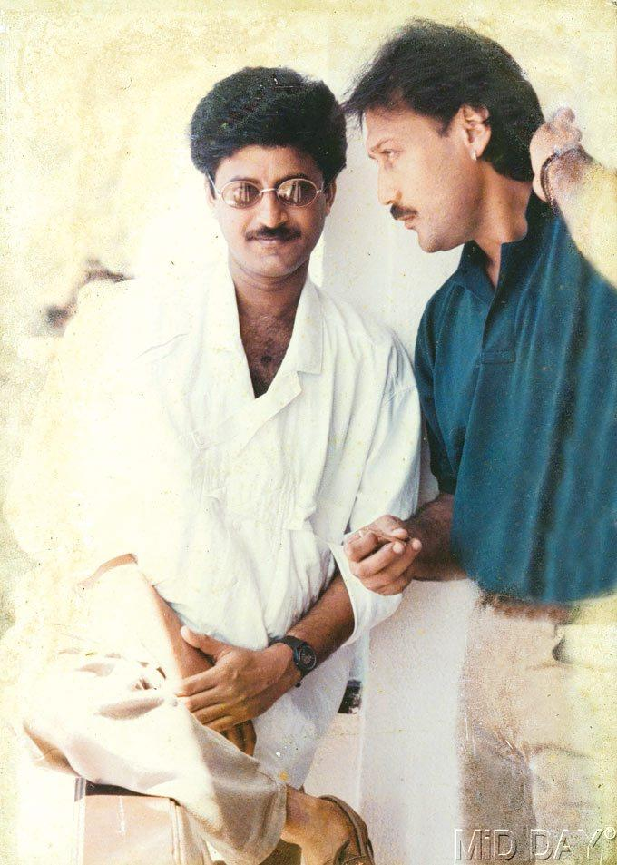 Jackie Shroff With His Childhood Friend Anis Sabri Nice Photo