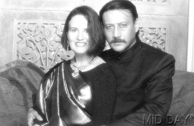 Jackie Shroff With His Wife Ayesha Shroff Cool Still