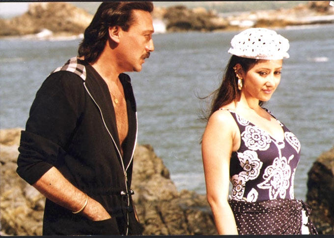 Jackie Shroff With Manisha Koirala Song Still From Agnisakshi Movie