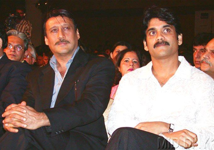 Jackie Shroff With Nagarjuna Akkineni At A Function