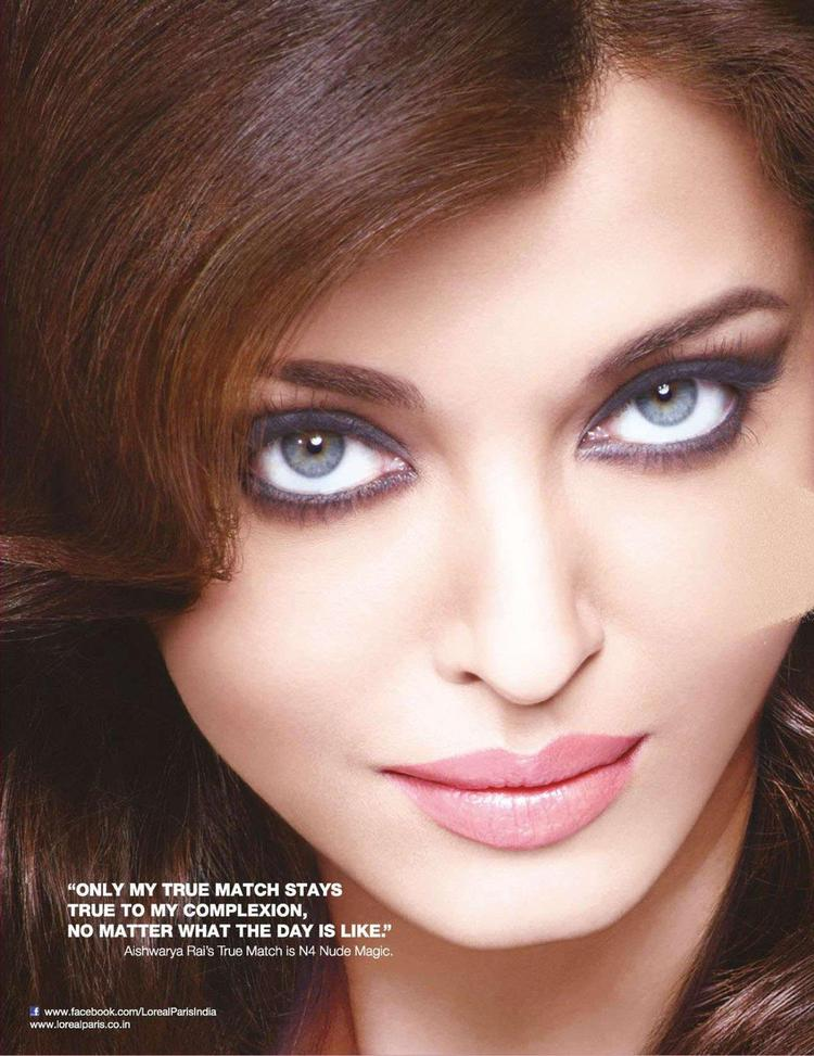 Aishwarya Rai Bachchan Hot Blue Eyes Look Shoot For L'Oreal Paris Ad