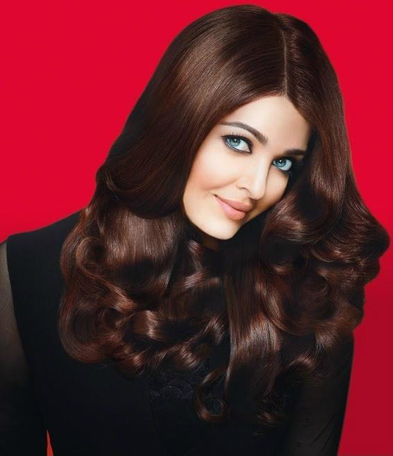 Aishwarya Silk Hair Style Fashionable Look Shoot For L'Oreal Paris Ad