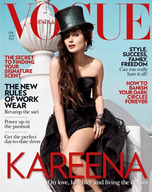 Kareena Kapoor on the Cover of Vogue India Magazine Feb 2013