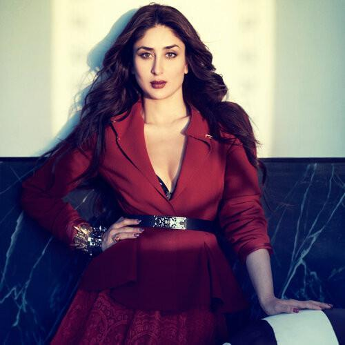 Kareena Stunning Look Complete With Red Lipstick Hot Look For Vogue India Magazine Feb 2013