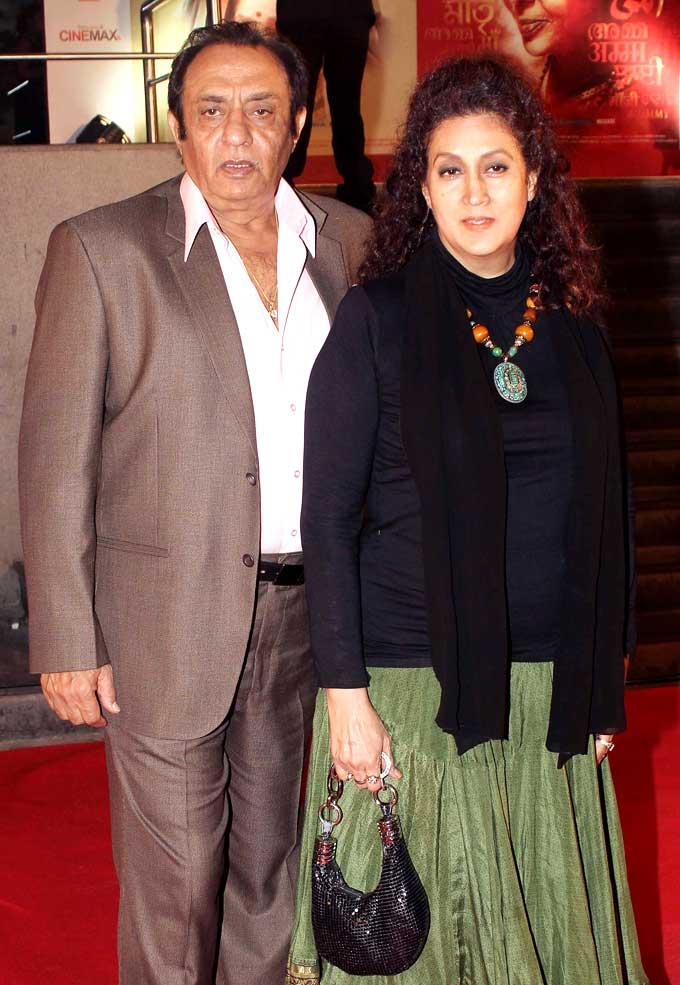 Veteran Actor Ranjeet With Wife Naazneen Make An Appearance At The Premiere Of Mai