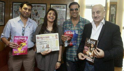 Akshay,Kajal And Anupam Promotes Their Upcoming Movie Special 26 At New Delhi