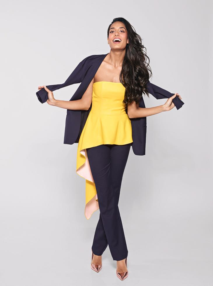 Lisa Haydon Cool Pose Photo Shoot For Marie Claire India Feb 2013