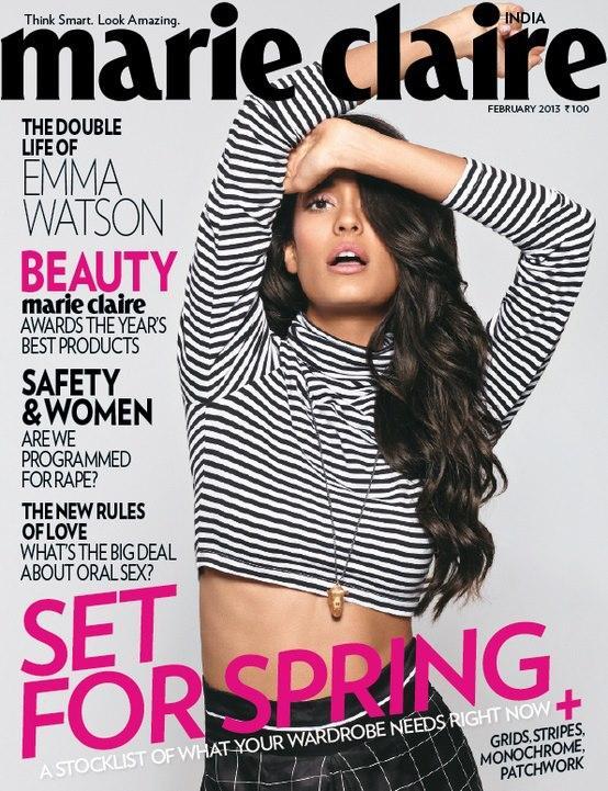 Lisa Haydon On The Cover Of Marie Claire Magazine India February 2013