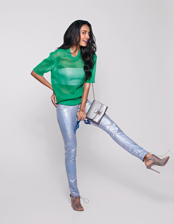 Lisa Haydon Fashionable Look Photo Shoot For Marie Claire India Feb 2013