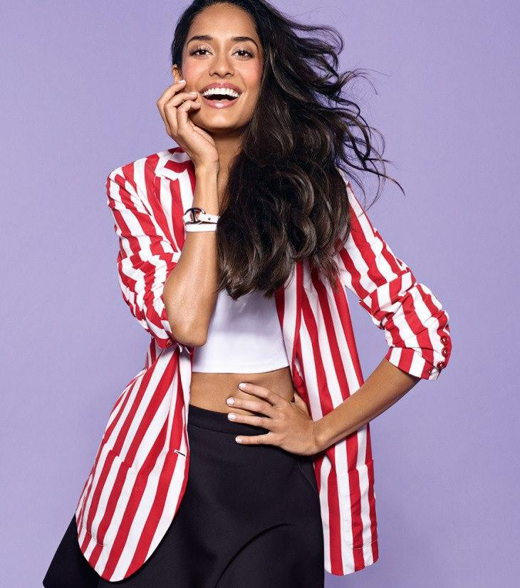 Lisa Haydon Smiling Look Photo Shoot For Marie Claire India Feb 2013