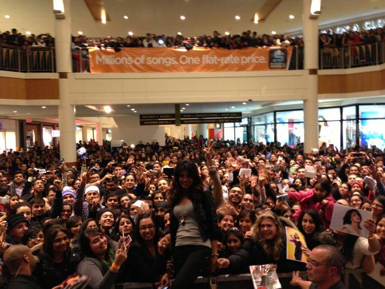 Priyanka Promotes In My City With Huge Crowds At Bramalea City Centre