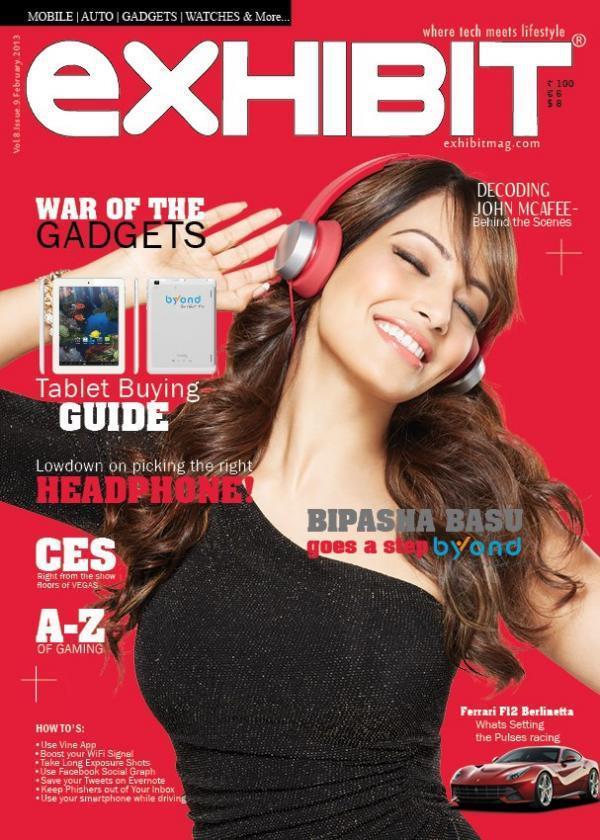 Bipasha Basu Graces On The Cover Of Exhibit Magazine Feb 2013