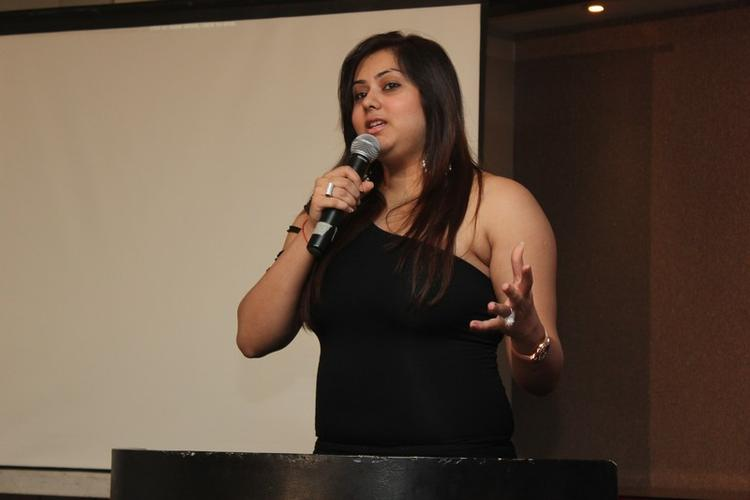 Namitha Kapoor Addresses The Media At Chennai Plastic Surgery Beauty Because Club
