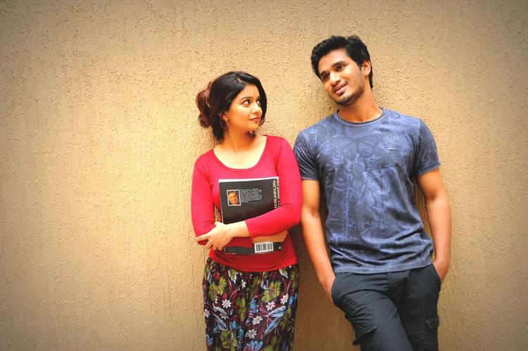 Nikhil And Swati Cool Nice Look Still From Swamy Ra Ra Movie