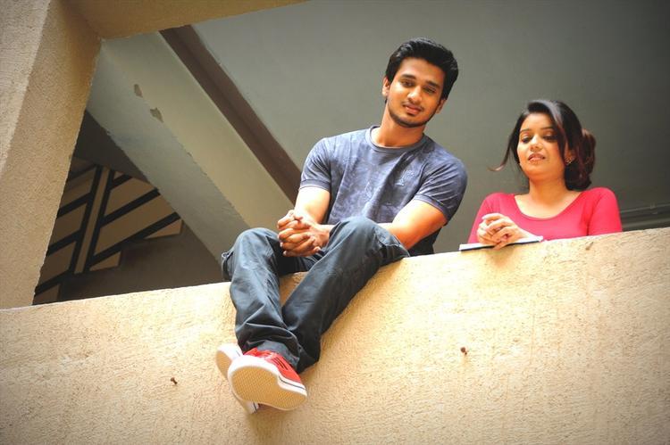 Nikhil And Swati A Still From Swamy Ra Ra Movie