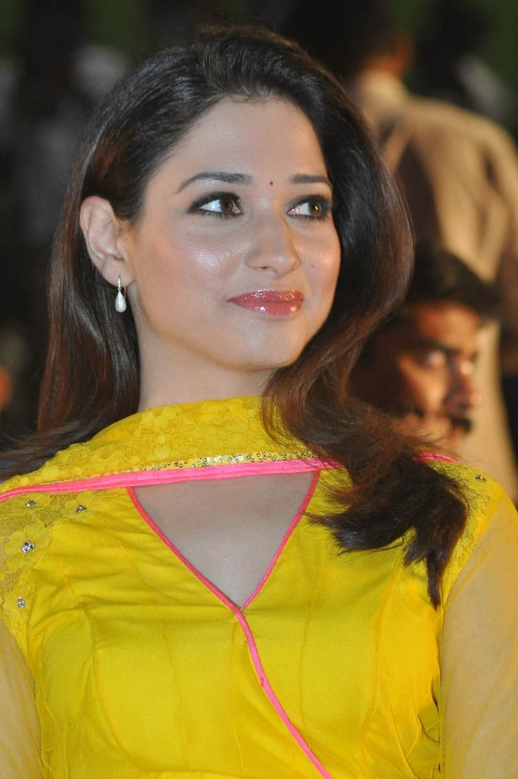 Smiling Tamannaah Bhatia During The Mr Pellikoduku Audio Launch Function