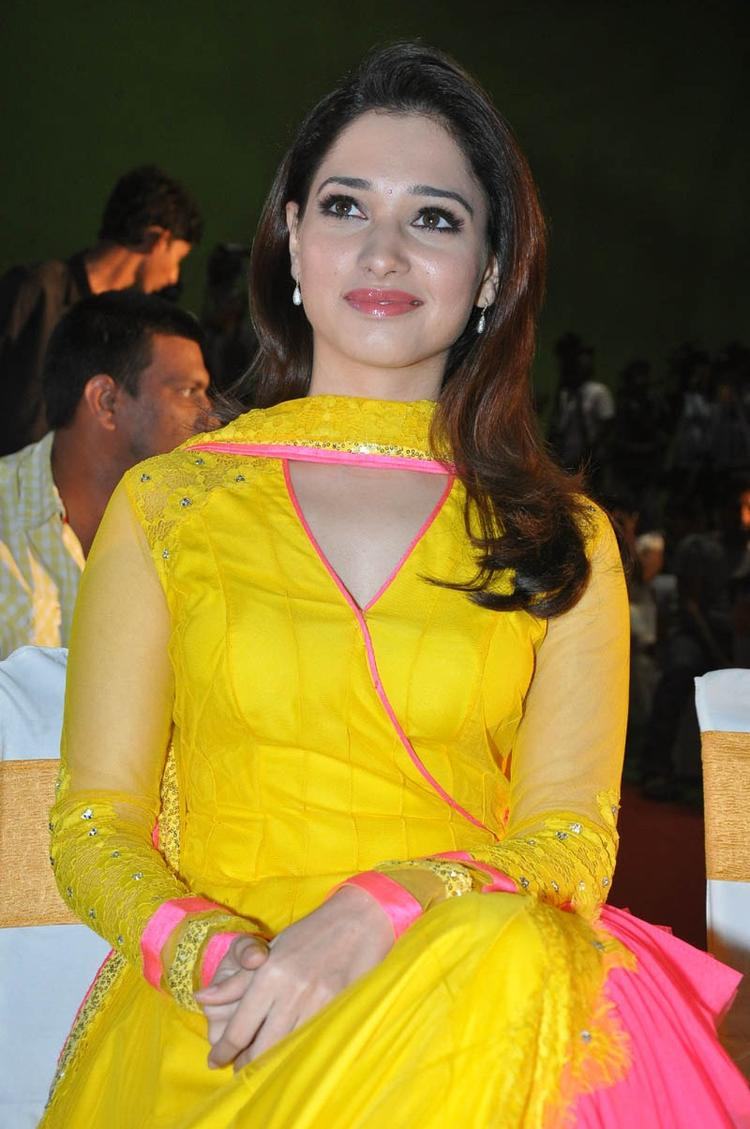 Tamannaah Bhatia Charming Face Look At Mr Pellikoduku Audio Launch Function
