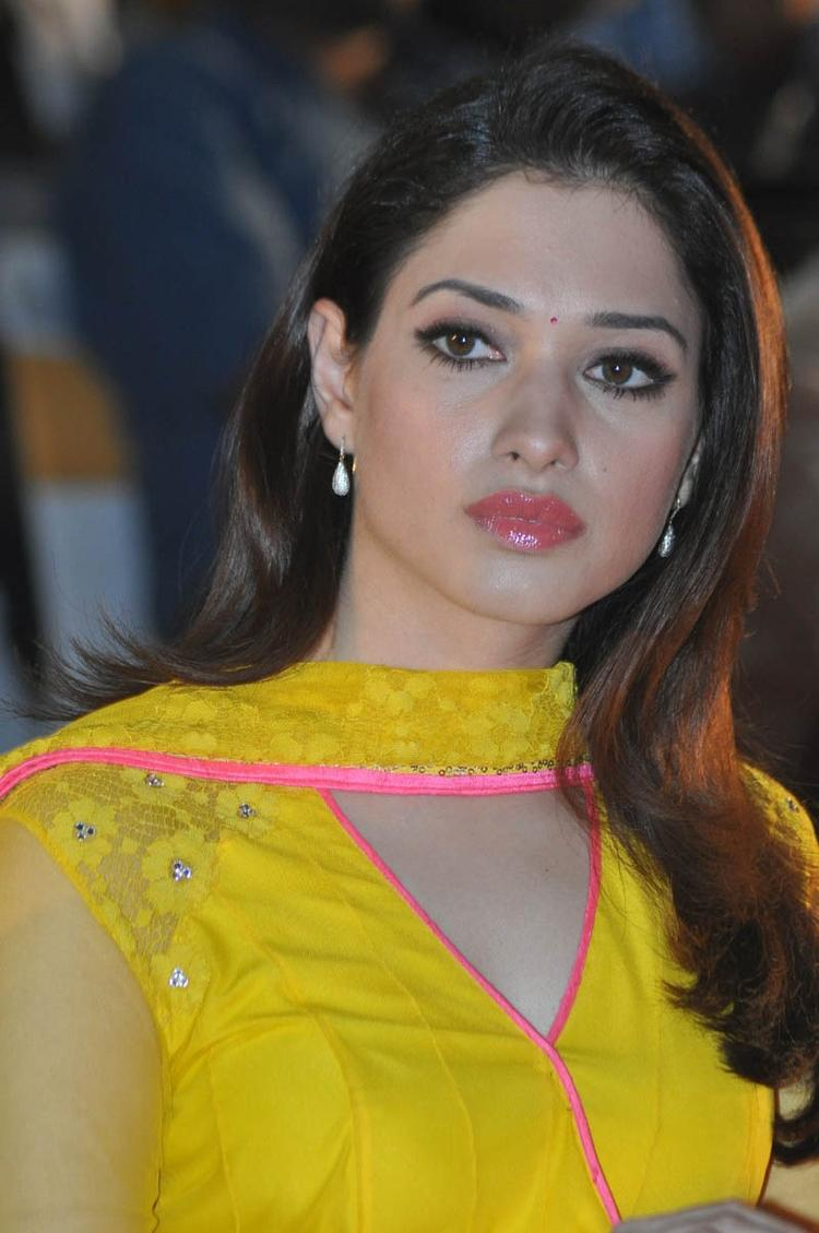 Tamannaah Bhatia Gorgeous Face Look At Mr Pellikoduku Audio Launch Function