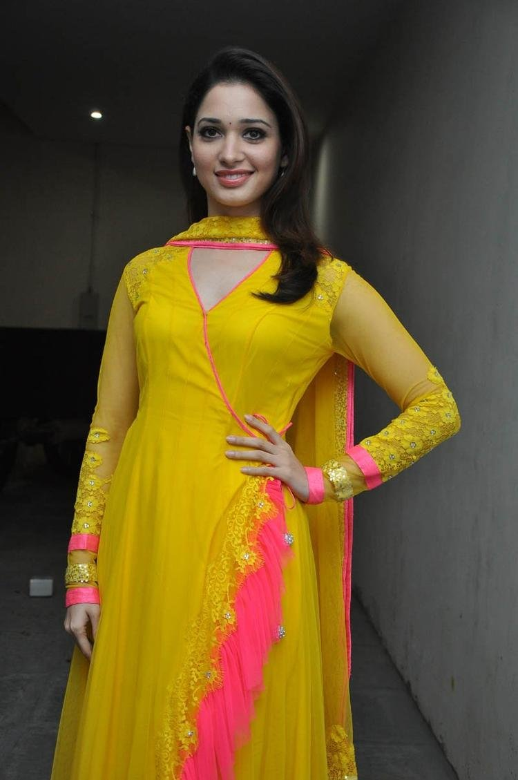 Tamannaah Bhatia Posed At Mr Pellikoduku Audio Launch Function