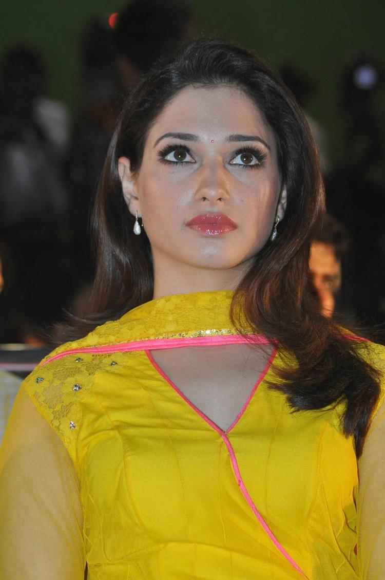 Tamannaah Bhatia Trendy Look Still At Mr Pellikoduku Audio Launch Function