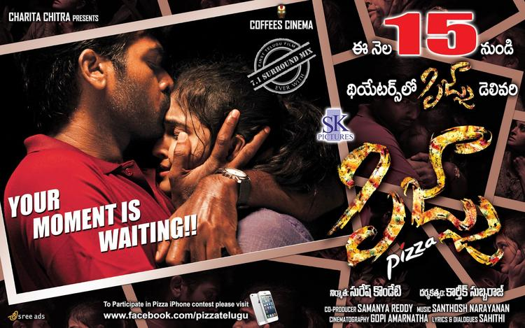 Vijay And Remya Hot Kissing Photo In Pizza Movie Poster