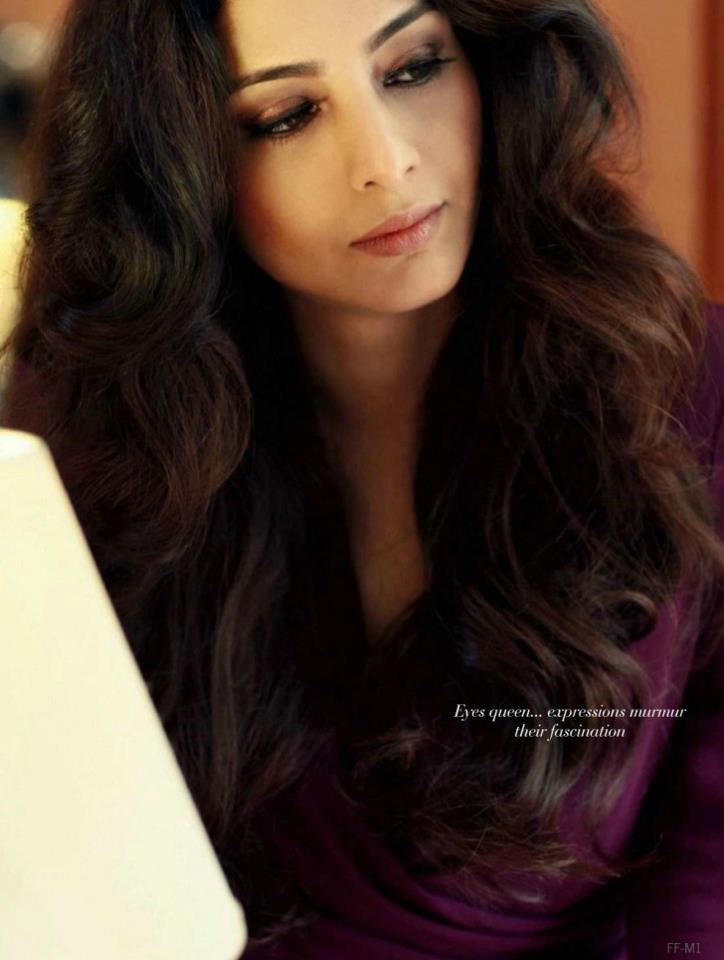Tabu Completed Her Look With Flowing Hair Photo Shoot For Filmfare Magazine