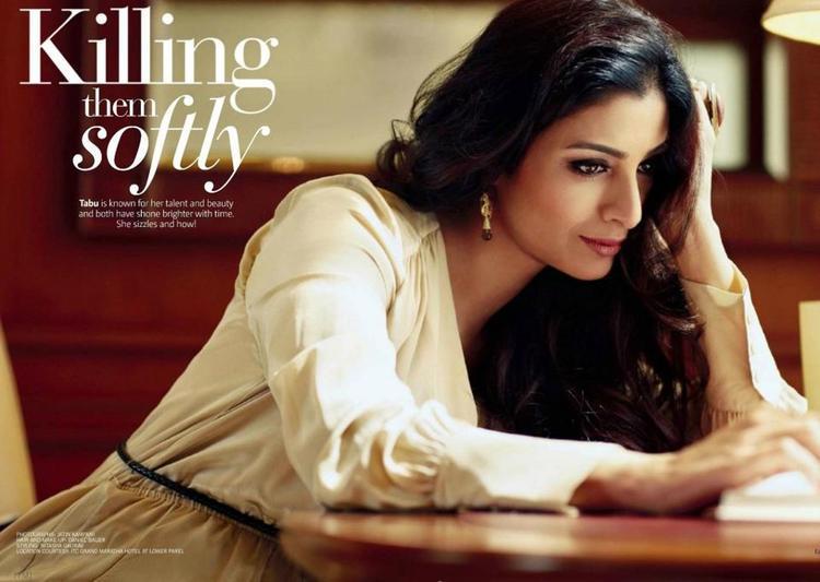 Tabu Glamour Look Photo Shoot For Filmfare February 2013 Edition