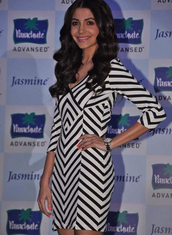 Anushka Sharma Strikes A Pose At Parachute Advansed Oil Event