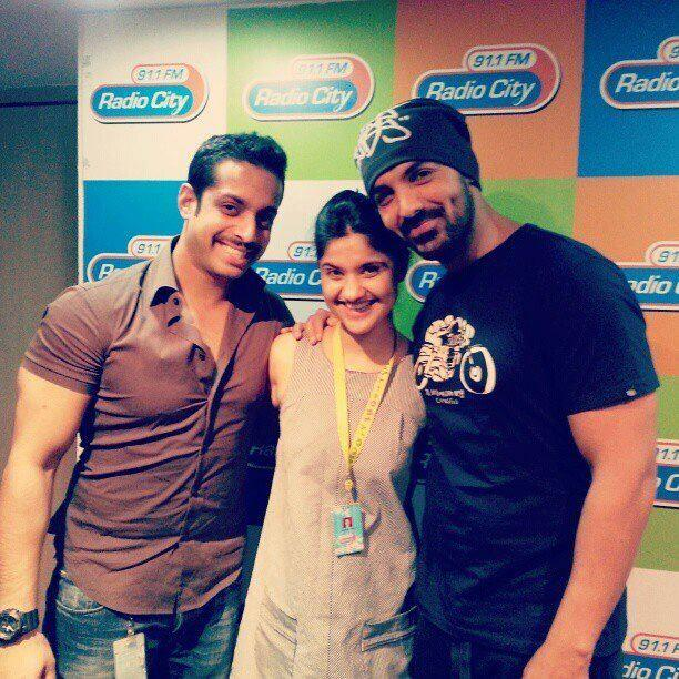 John Abraham Clicked At Radio City 91.1 FM During Promote The Movie I Me Aur Main