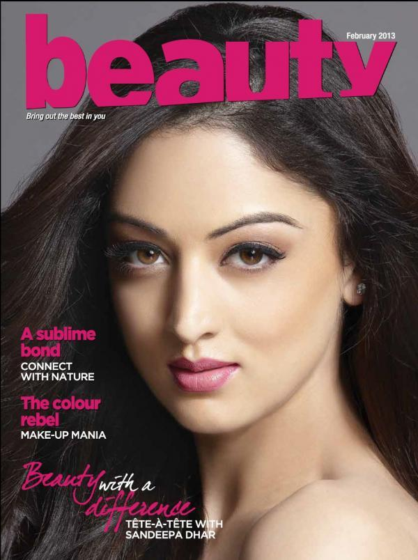 Sandeepa Dhar Gorgeous Look On The Cover Of Hair Magazine Feb 2013