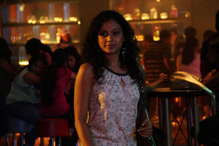 Rupa Manjeri In Bar A Still From From Nakili Movie