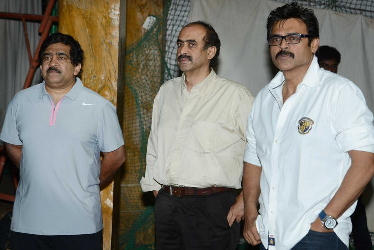 Venkatesh And V Chamundeswaranath At In Sports For CCL Season 3