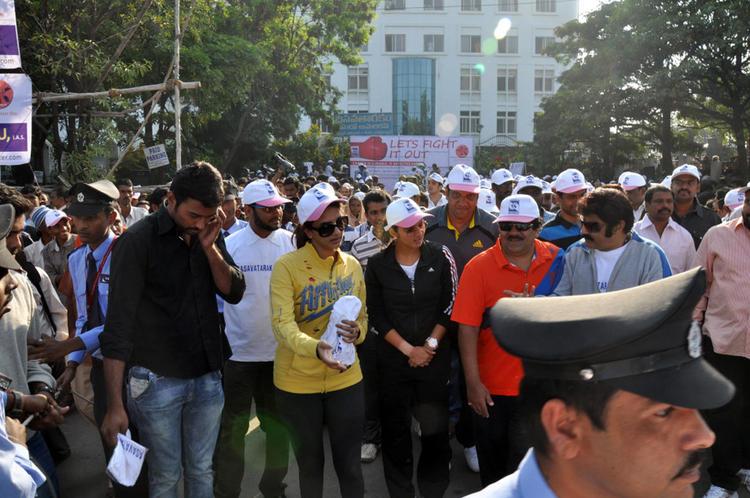 Lakshmi And Sania Walk At Cancer Awareness 2013 Event