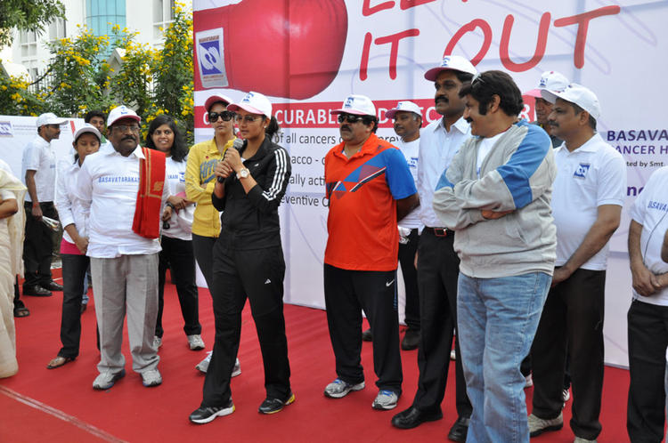 Lakshmi,Balakrishna And Sania Attend The Cancer Awareness 2013 Event