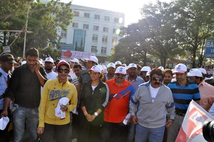 Lakshmi,Balakrishna And Sania At Cancer Awareness 2013 Event
